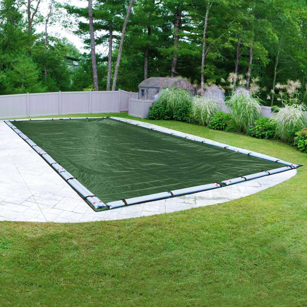 Xl Winter Pool Mate Extreme Mesh Xl 20 Ft X 45 Ft Rectangular Teal Mesh In Ground Winter Pool Cover