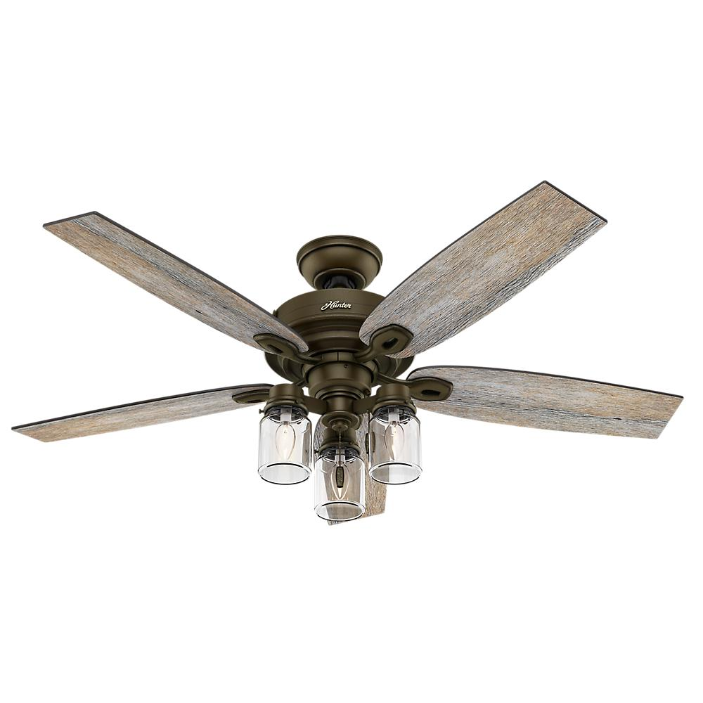Industrial Style Ceiling Fans Hunter Crown Canyon 52 In Indoor Regal Bronze Ceiling Fan