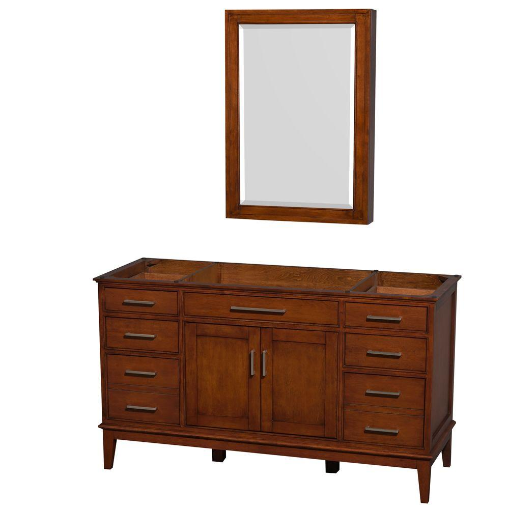 Wyndham Collection Hatton 59 in. Vanity Cabinet with