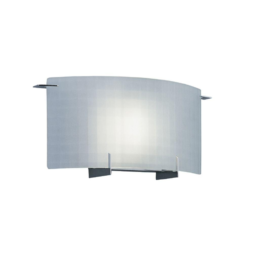 Lighting Wall Lights Designers Fountain Lane Collection 1 Light Chrome Wall Mount Sconce With Frosted Glass