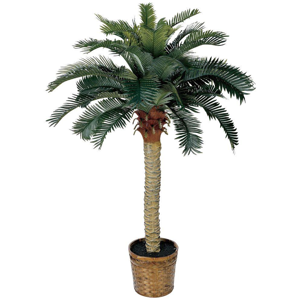 Home Depot Palm Trees Nearly Natural 4 Ft Sago Palm Silk Tree