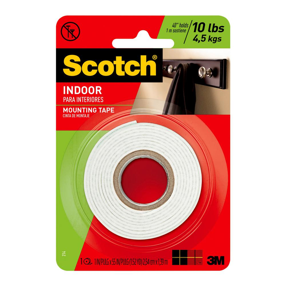 3m Vhb Tape Canada 3m 1 In X 1 52 Yds Permanent Double Sided Indoor Mounting Tape