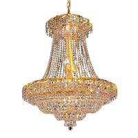 Elegant Lighting 18-Light Gold Chandelier with Clear ...