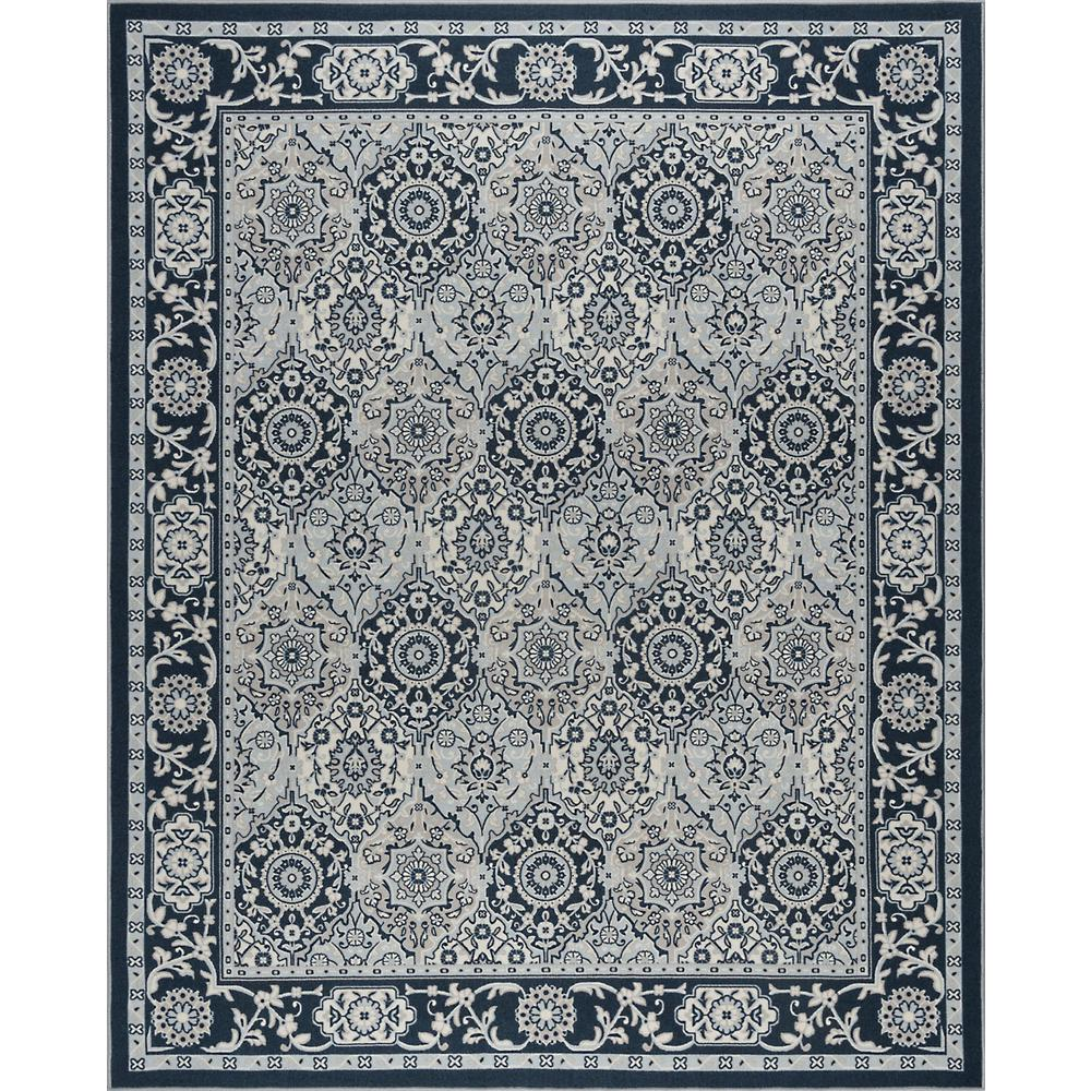 Viva Garage Floor Mats Tayse Rugs Majesty Navy 2 Ft X 3 Ft Accent Rug