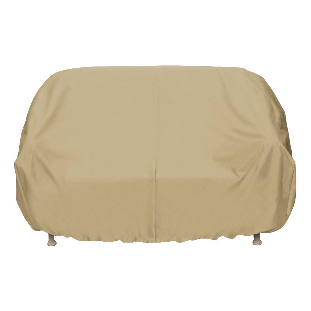 Quality Sofa Covers Two Dogs Designs 102 In Khaki Oversized Patio Sofa Cover