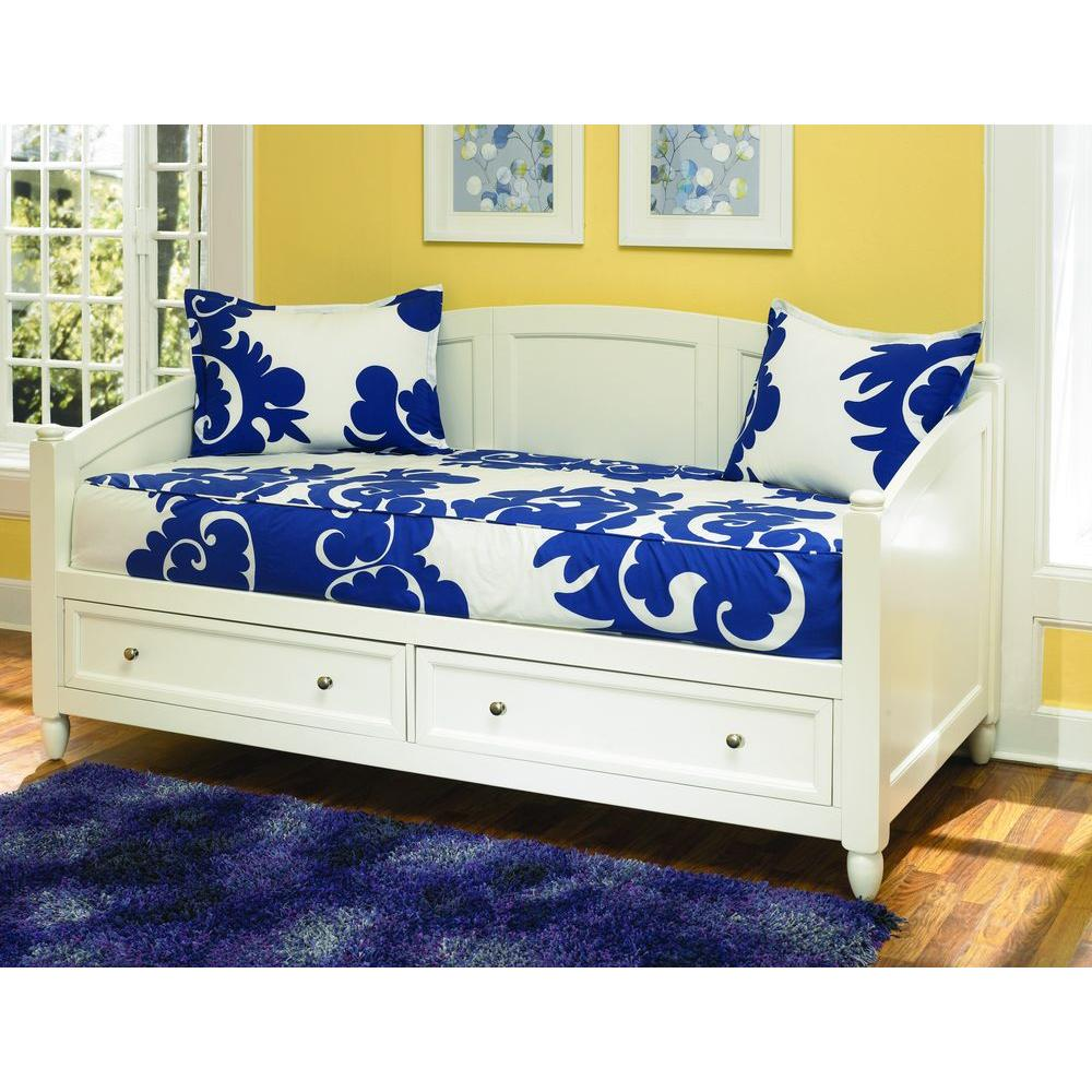 Day Beds For Sale Home Styles Naples White Storage Day Bed 5530 85 The Home Depot