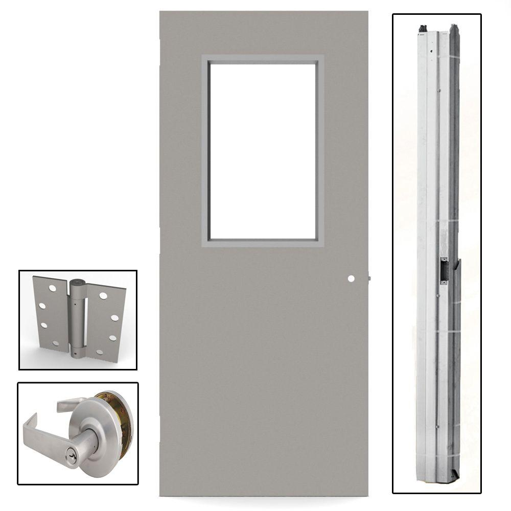 36 exterior door with window