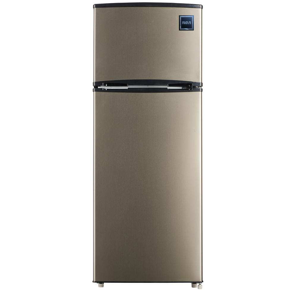 Small Freezer Canada Rca 7 5 Cu Ft Mini Fridge With Stainless Look