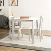 Tot Tutors Daylight 3-Piece White Kids Table and Chair Set ...