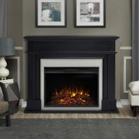 Real Flame Harlan Grand 55 in. Electric Fireplace in Black ...