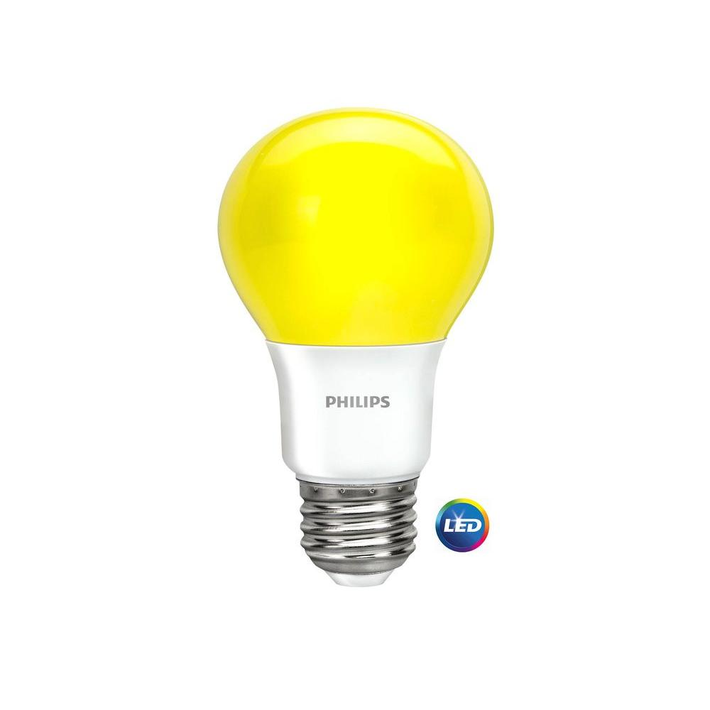 Bulb Philips Philips 60 Watt Equivalent A19 Non Dimmable Yellow Led Bug Light Bulb
