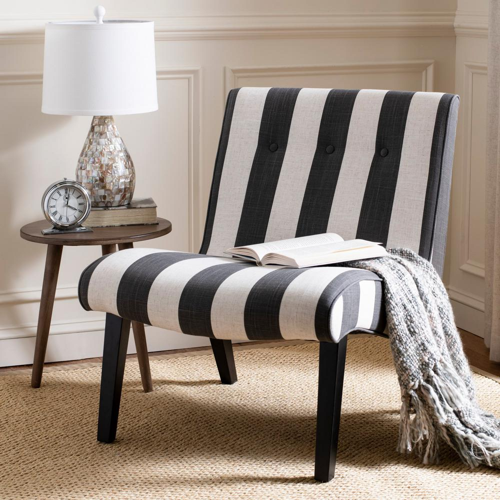 Black And White Accent Chair Safavieh Black And White Polyester Accent Chair