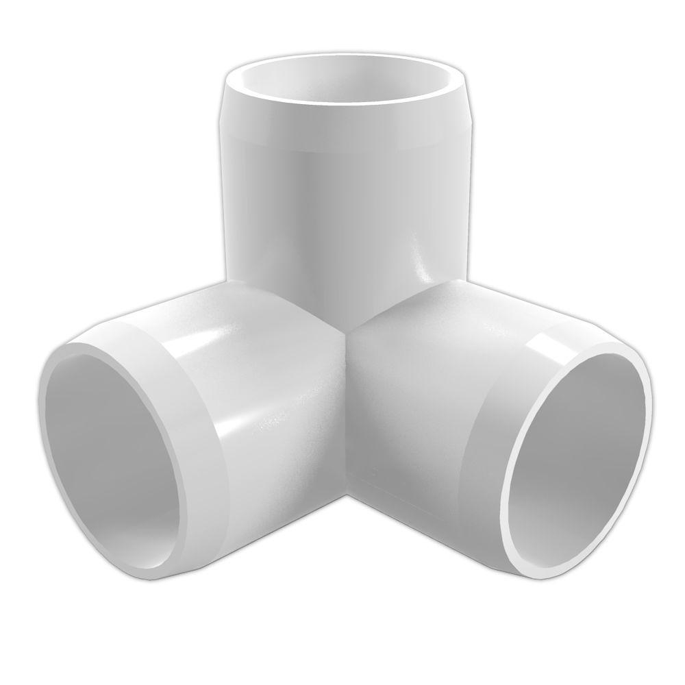 Pvc Joints Details About 3 Way Elbow 3 4 In Furniture Grade Pvc Pipe Fittings In White 8 Pack