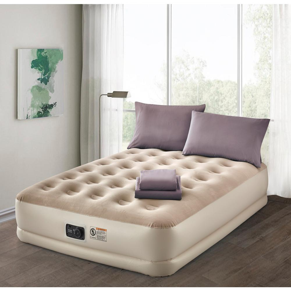 Camping Aero Bed Air Mattresses Bedroom Furniture The Home Depot