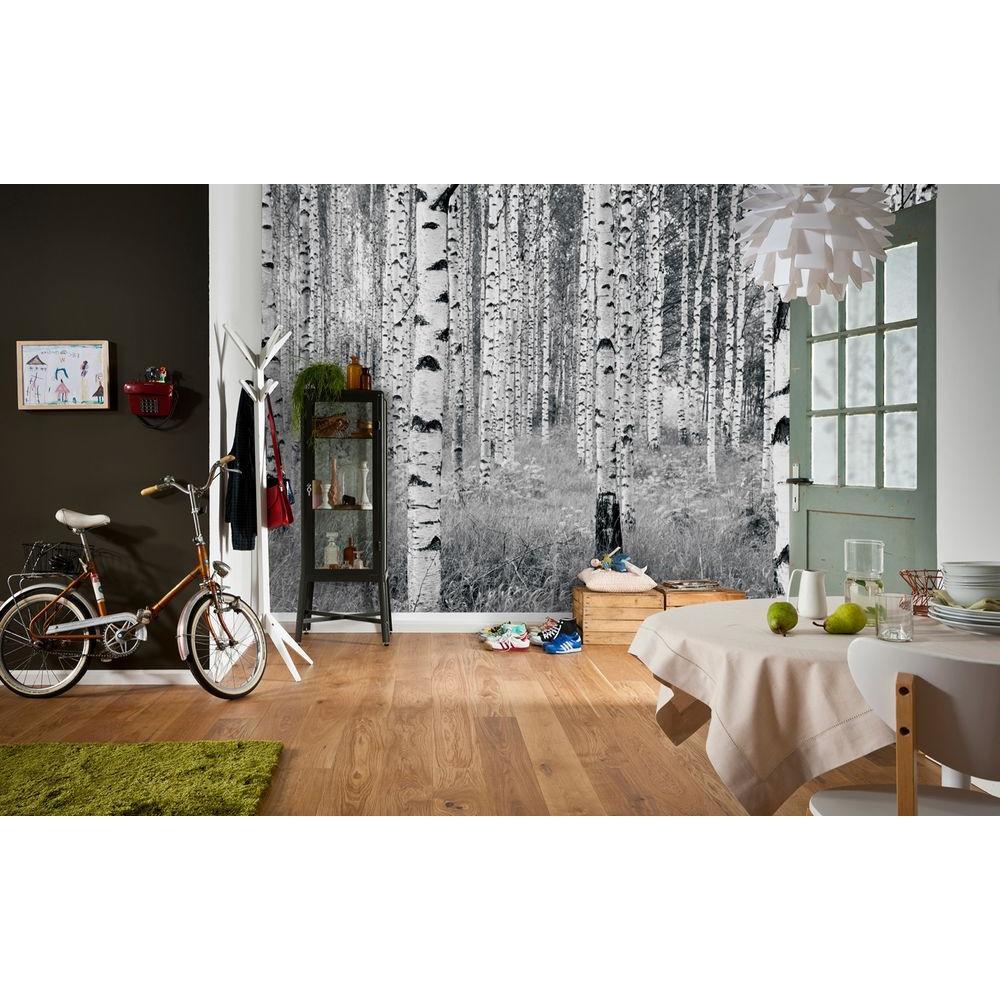 3d Brick Effect Home Depot Brick Wallpaper Komar 98 In H X 145 In W Birch Forest Wall Mural Xxl4