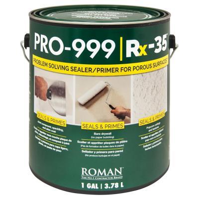 ROMAN Rx-35 PRO-999 1 gal. Interior Drywall Repair and Sealer Primer-209907 - The Home Depot