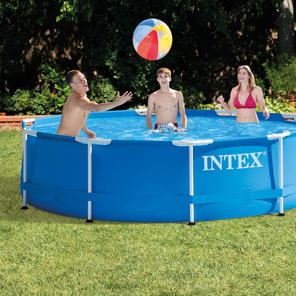Intex Pool Frame Rund Intex Intex 10 Ft X 2 5 Ft Round Metal Frame Backyard Above Ground