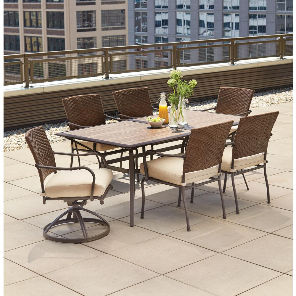Outdoor Patio Furniture Dining Table Patio Dining Sets Patio Dining Furniture The Home Depot