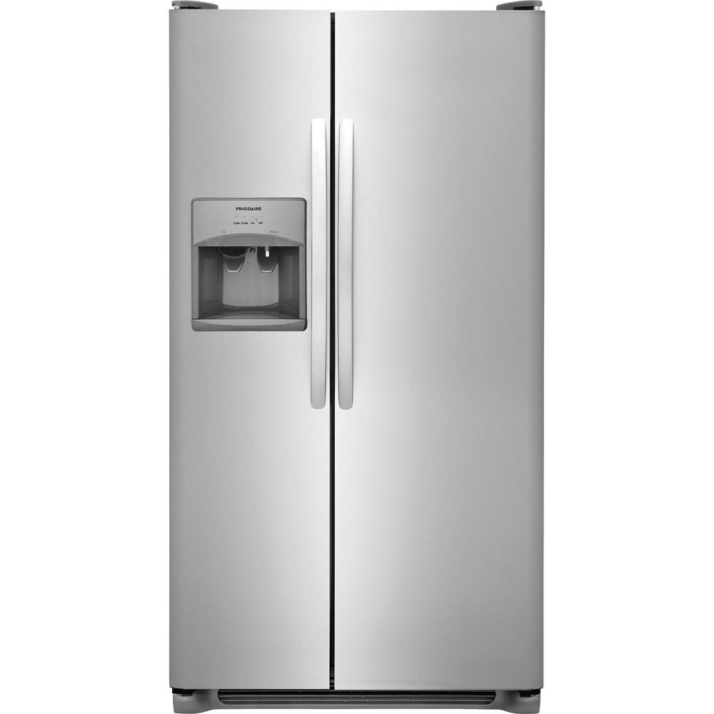 Home Depot Fridges Canada 25 5 Cu Ft Side By Side Refrigerator In Stainless Steel