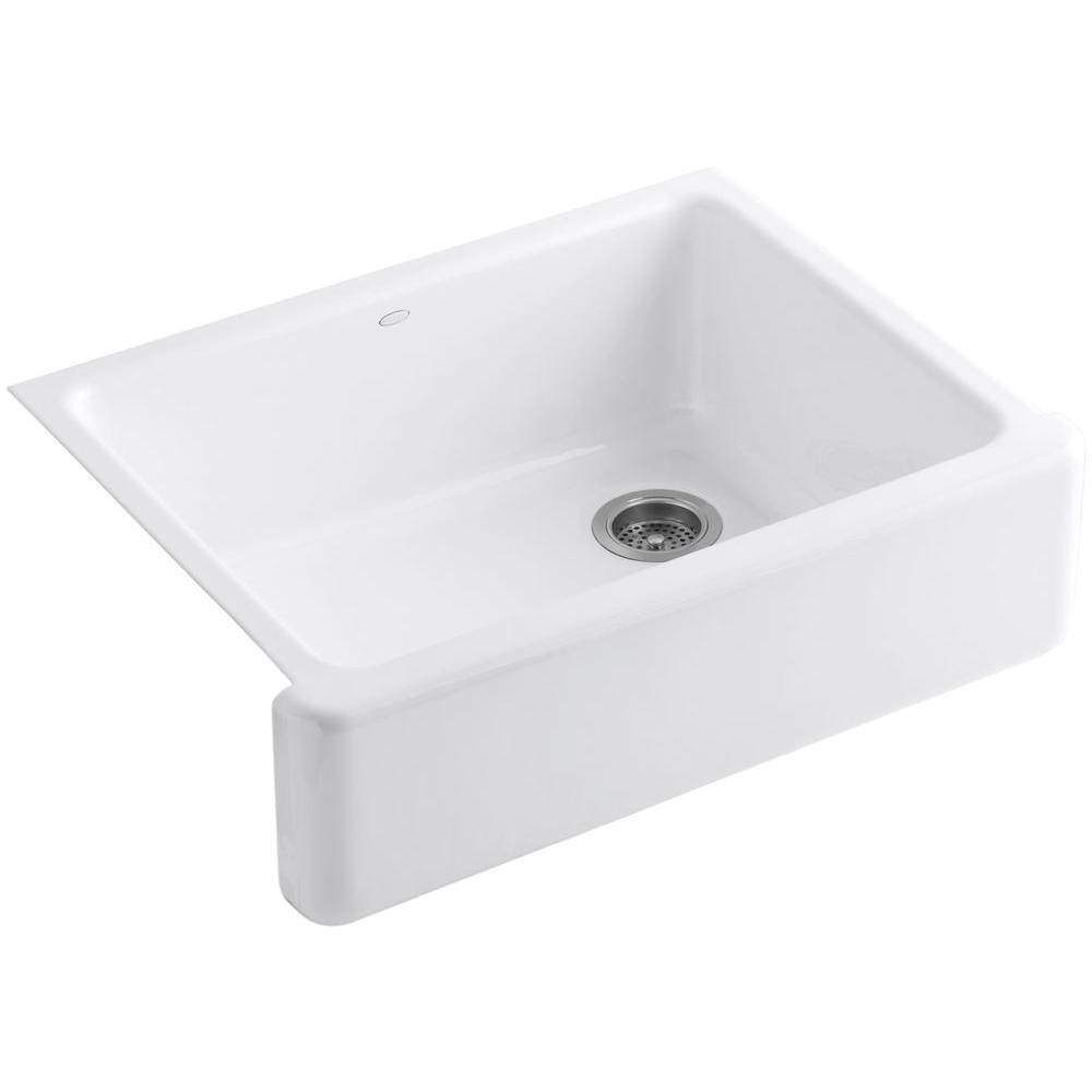 Stone Farmhouse Sink Lowest Price Whitehaven Farmhouse Apron Front Cast Iron 30 In Single Bowl Kitchen Sink In White