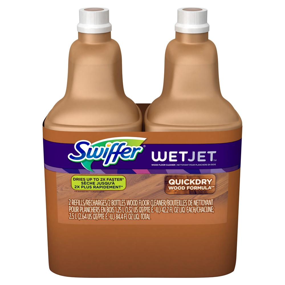 Plancher Home Depot Swiffer Wetjet 42 2 Oz Multi Purpose Hardwood Floor Cleaner Solution Refill 2 Pack