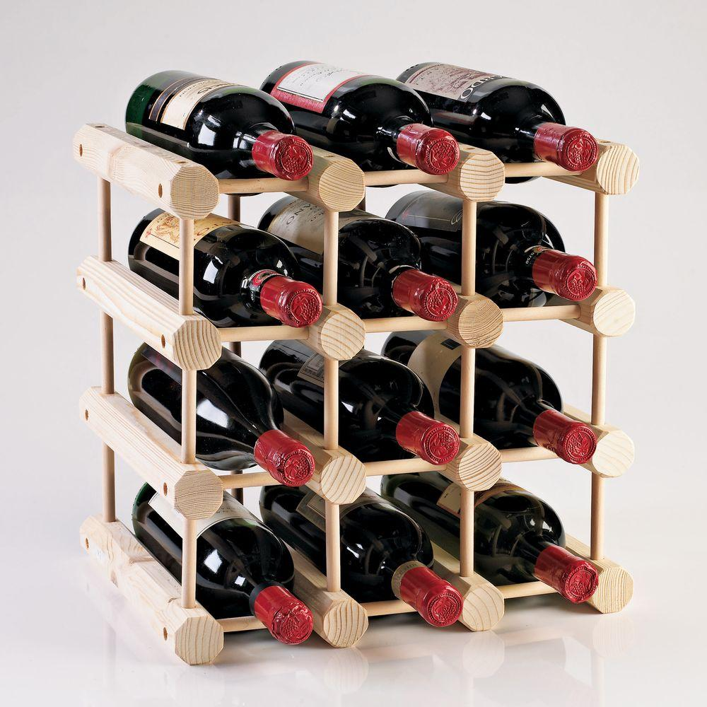 Wine Enthusiast Modular 12 Bottle Wine Rack In Natural 640