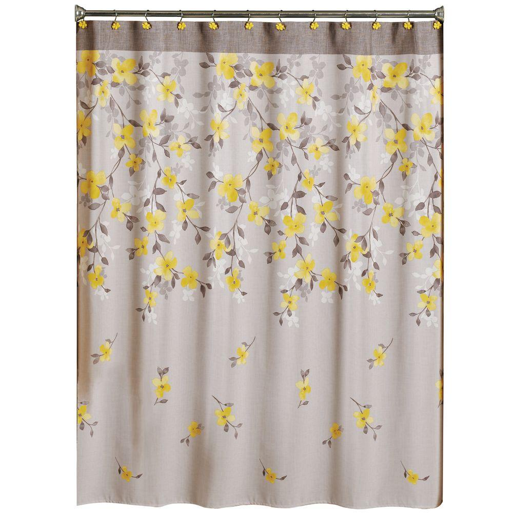 Fabric Shower Curtains Macy's Saturday Knight Spring Garden 70 In W X 72 In L Floral Fabric Shower Curtain