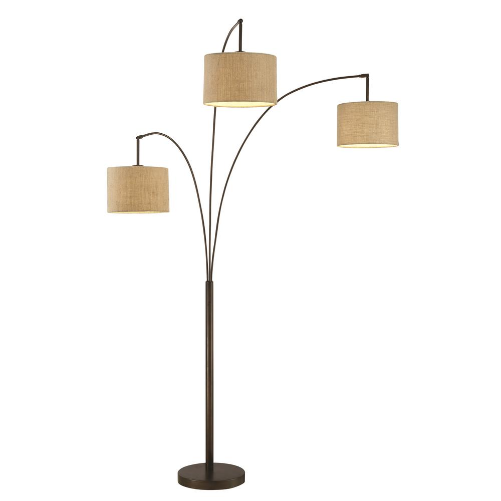 Artiva Lumiere Modern 80 In Antique Bronze Led 3 Arc