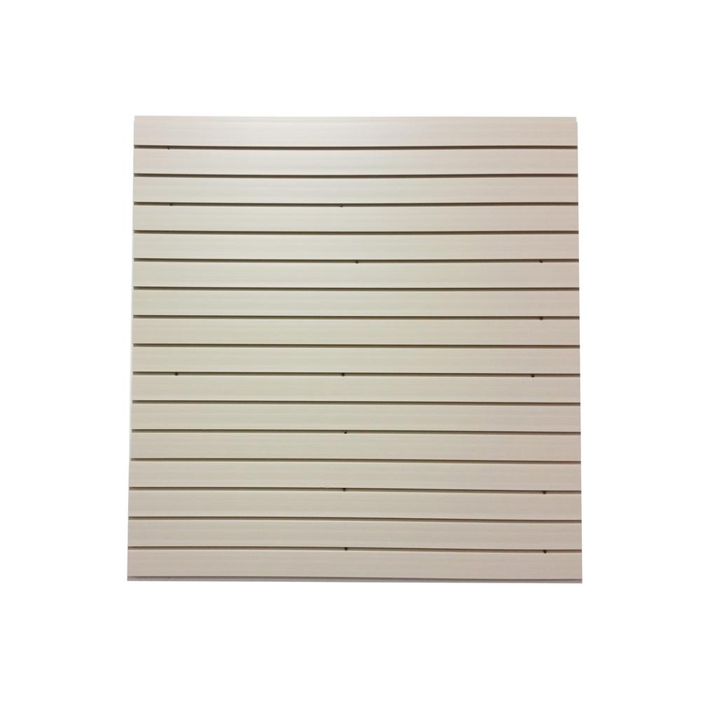 Slat Walls Garageescape 12 In H X 48 In L Pvc Slat Wall Easy Panels In White 4 Piece Carton