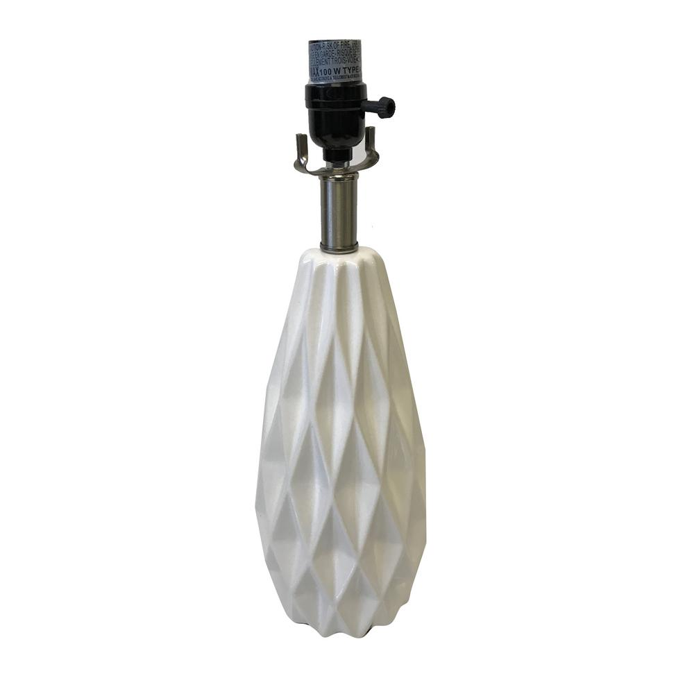 Table Lamp Base Adesso Mix Match 18 In White Ceramic Faceted Table Lamp Base