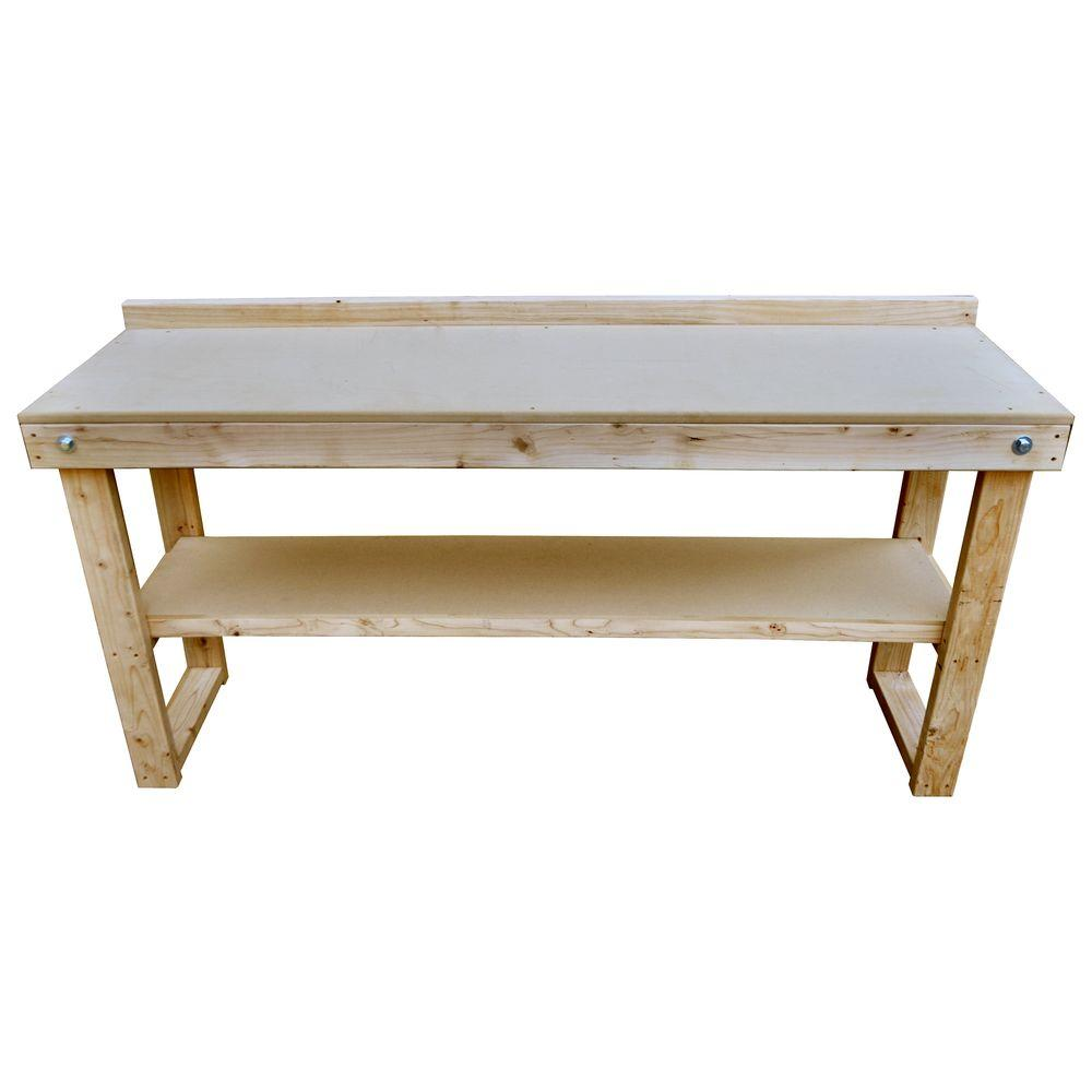 Diy Workbench With Wheels Signature Development 72 In Fold Out Wood Workbench