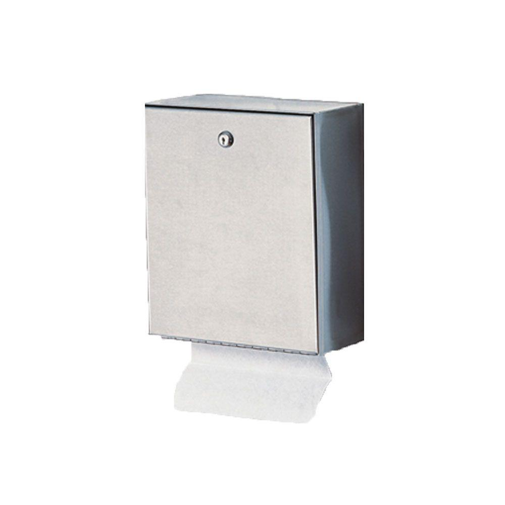 Wall Mount Paper Towel Dispensers Stainless Solutions Wall Mounted Folded Paper Dispenser In Stainless Steel