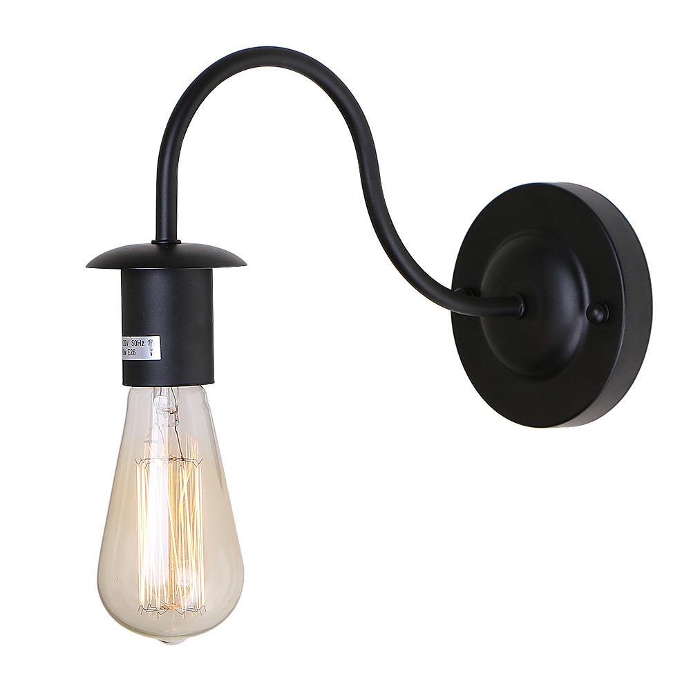Gooseneck Lighting Lnc 1 Light Black Gooseneck Wall Sconce