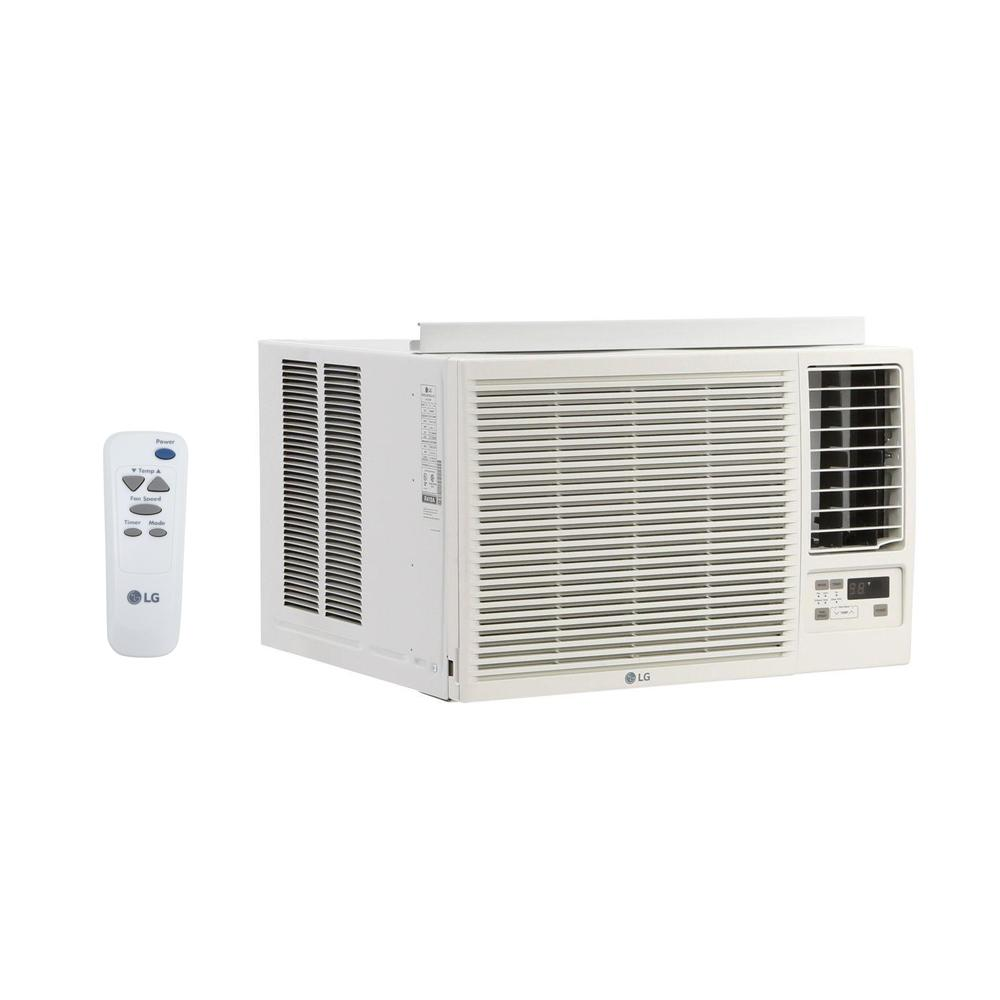 Heat Air Lg Electronics 23 000 Btu 230 208 Volt Window Air Conditioner With Cool Heat And Remote