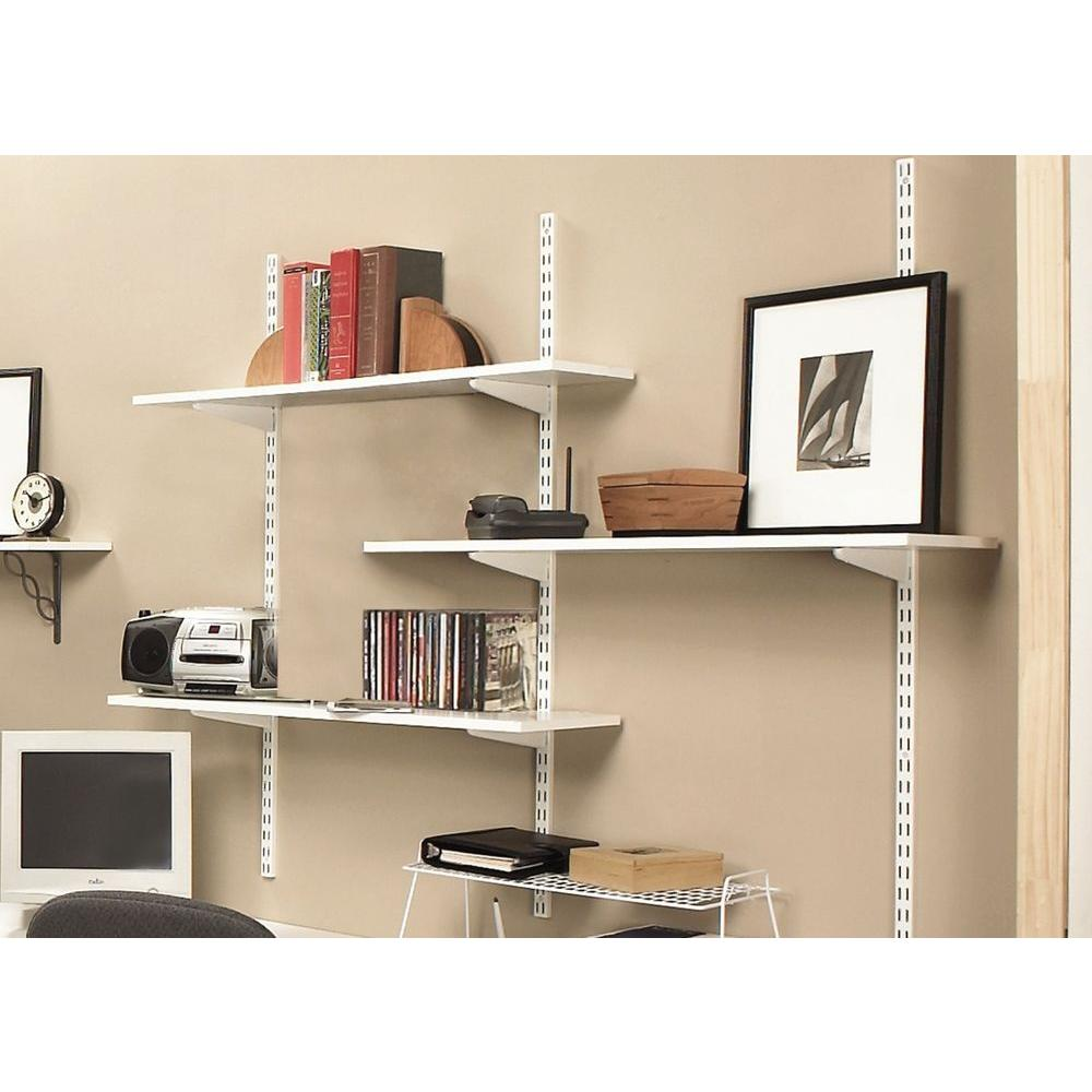 Möbel Brand New White Twin Slot Shelving Kit 2 X Uprights Shelves And 8 X Brackets Certificateattestation Co In