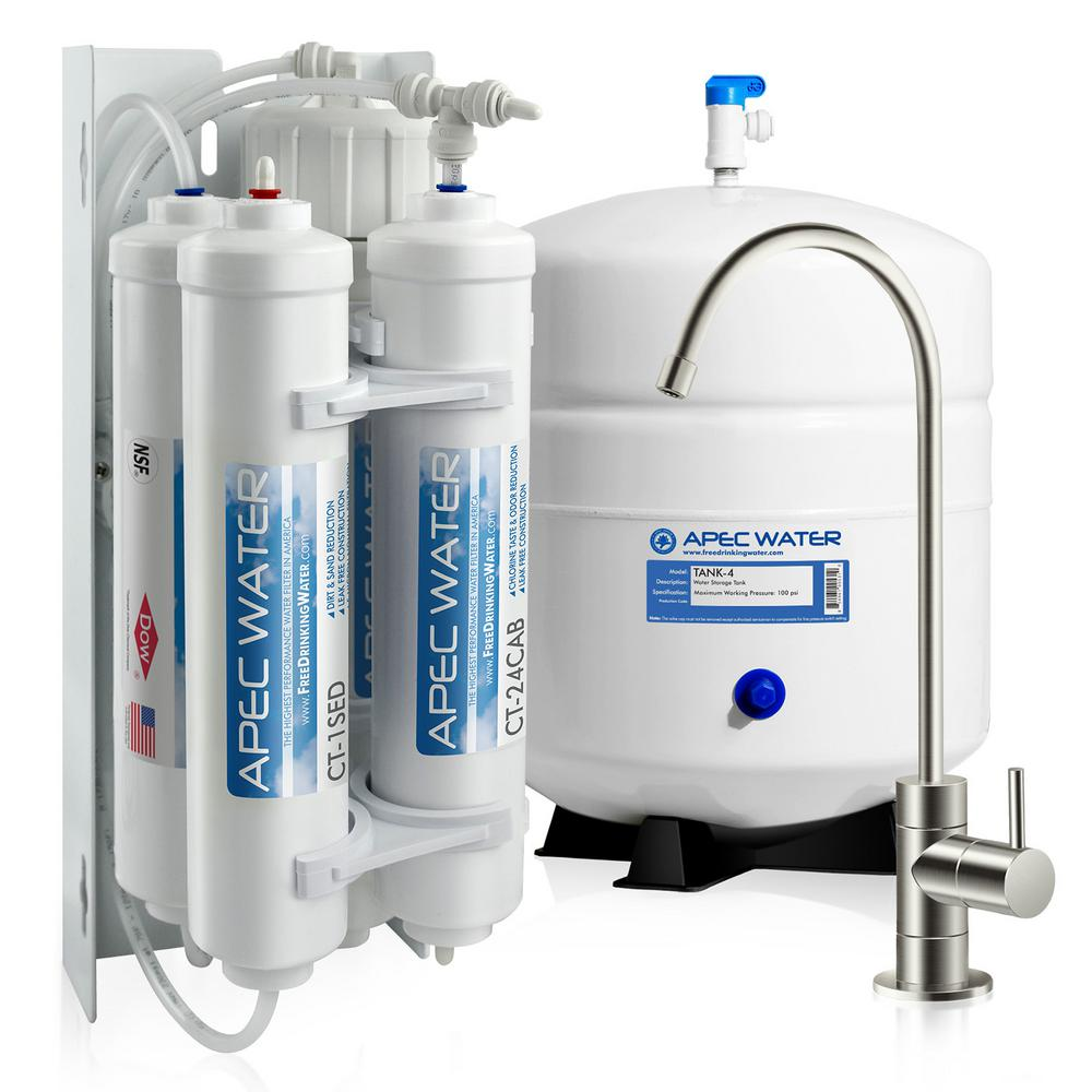 Reverse Osmosis Drinking Water System Apec Water Systems Ultimate Compact 4 Stage Under Sink Reverse Osmosis Drinking Water Filtration System
