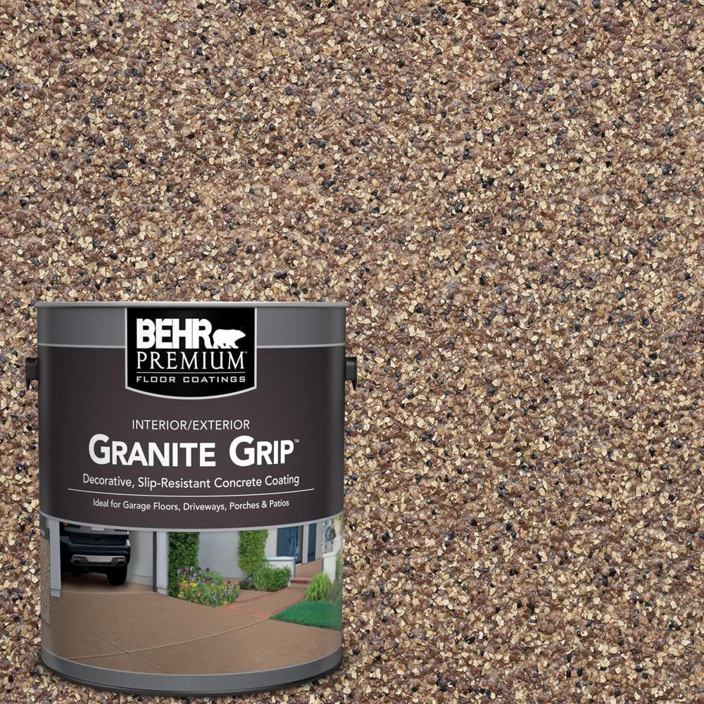 Garage Floor Coating Tucson Cost Behr Premium 1 Gal Tan Granite Grip Decorative Interior Exterior Concrete Floor Coating