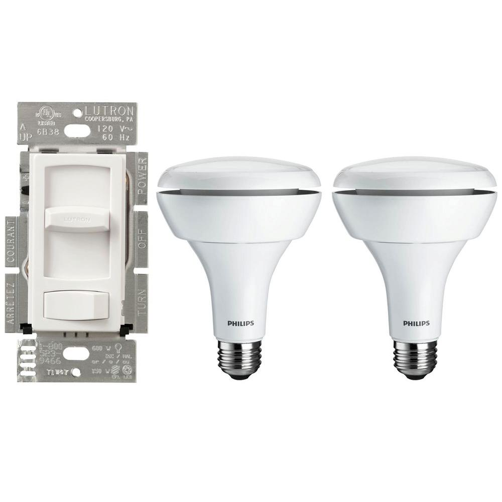 Philips Dimmer Lutron Skylark Contour Led Dimmer 2 Philips Br30 Led Light Bulbs