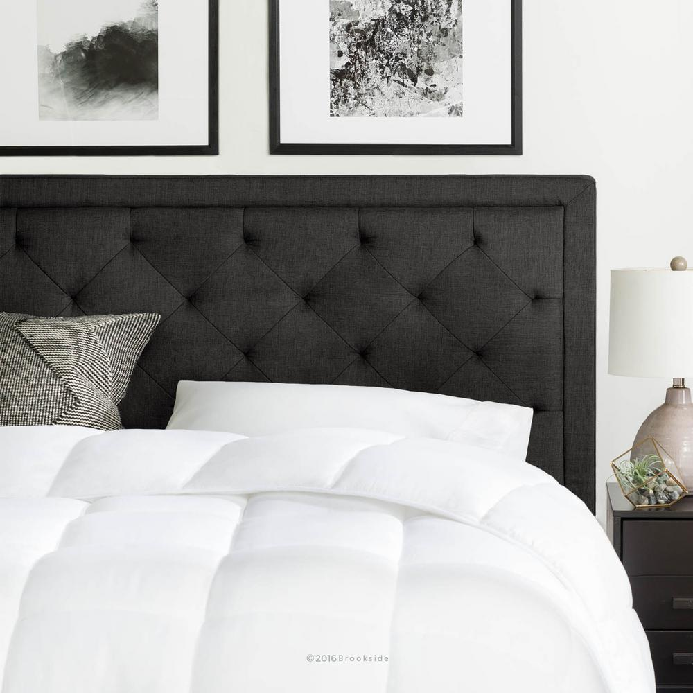 Bed Headboard Brookside Upholstered Charcoal Full With Diamond Tufting Headboard
