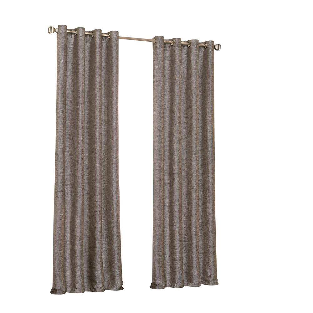 108 Long Shower Curtain Eclipse Presto Blackout Window Curtain Panel In Chocolate 52 In W X 108 In L
