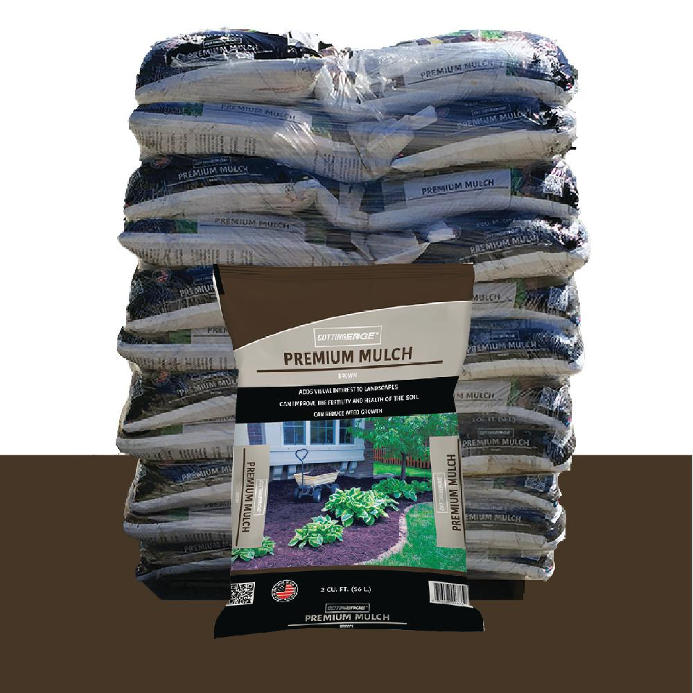 Black Bark Mulch 2 Cu Ft Premium Quality Brown Mulch Pallet 55 Bags