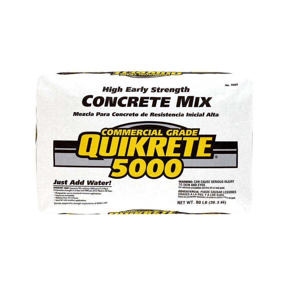 Quikrete 80 Lb High Early Strength Concrete Mix 100700 The Home Depot