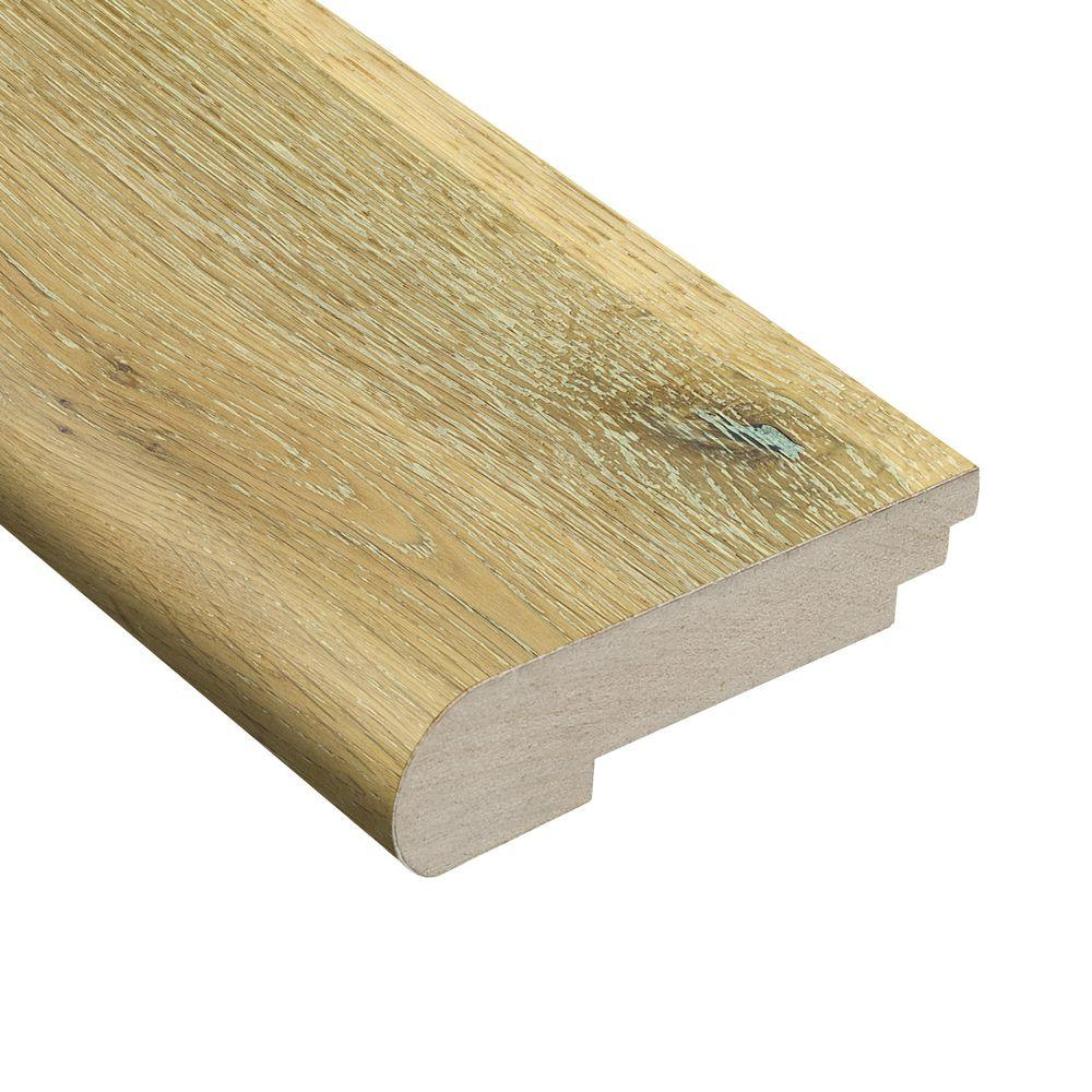 Floor Wire Molding Home Legend Wire Brushed White Oak 3 8 In Thick X 3 1 2 In Wide X 78 In Length Hardwood Stair Nose Molding