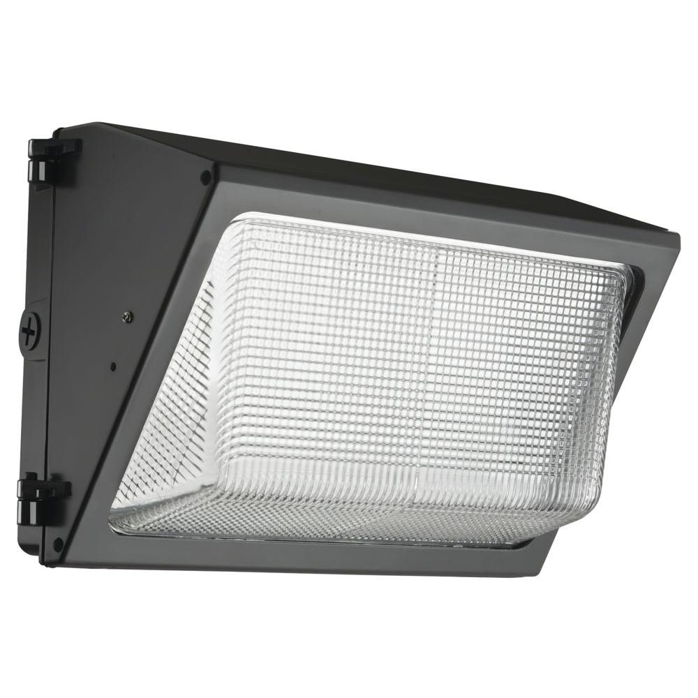 Exterior Led Light Fixtures Lithonia Lighting Led Small Bronze Wall Pack With Glass Lens