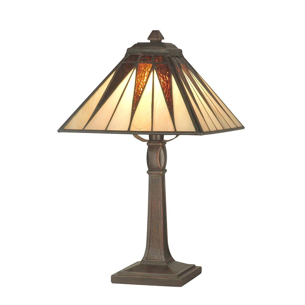Glass Lamp Art Dale Tiffany 13 75 In Cooper Antique Bronze Accent Lamp