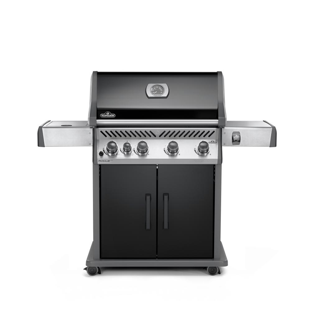 Napoleon Lex485rsib Propane Bbq Napoleon Rogue 5 Burner Natural Gas Grill In Black With Range Side Burner