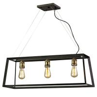 Fifth and Main Lighting Austin 3-Light Black Frame Island ...
