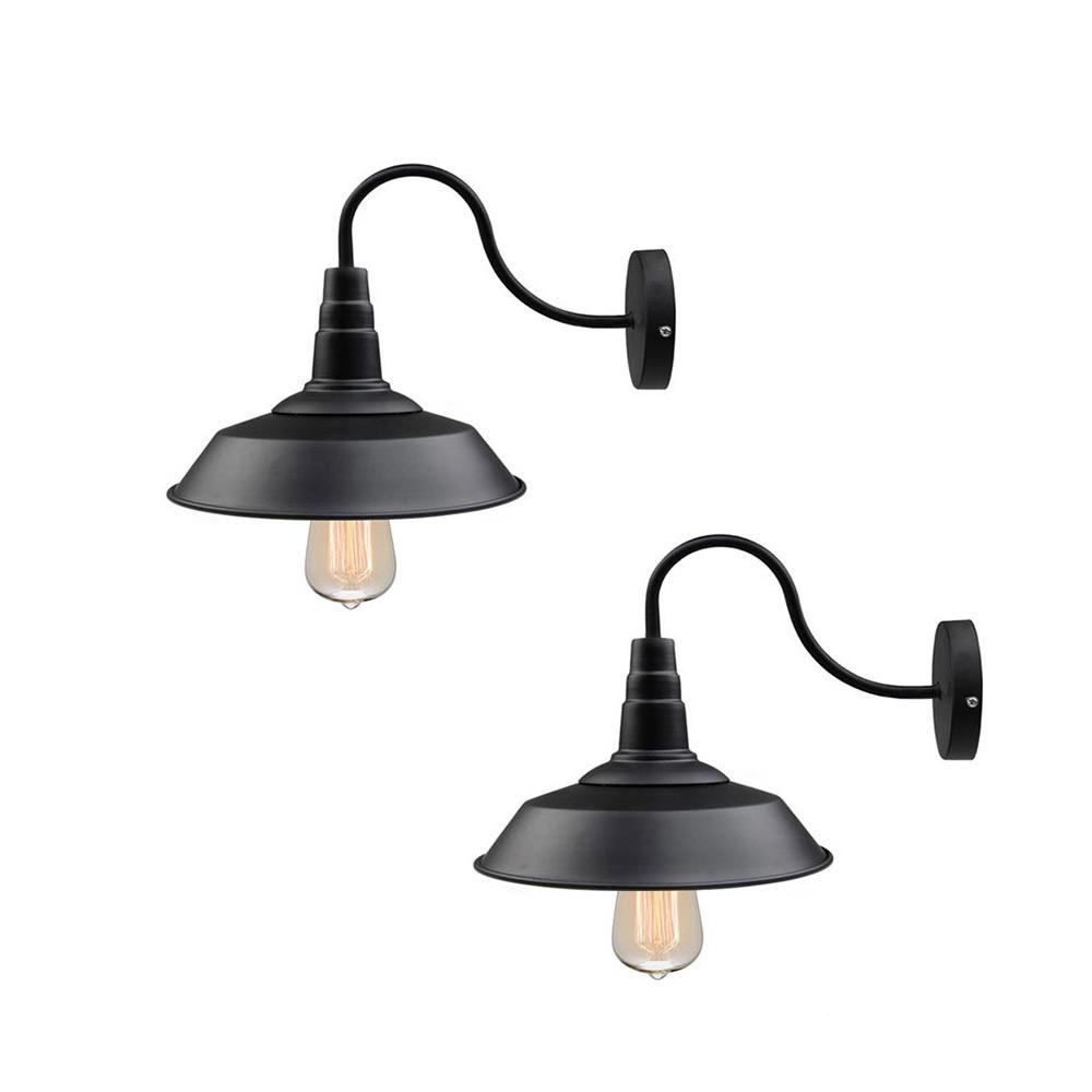 Gooseneck Lighting Lnc 1 Light Black Gooseneck Farmhouse Lighting Barn Sconce 2 Pack