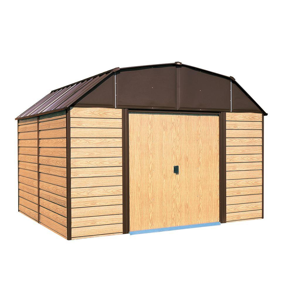 Garage Storage Buildings Woodahven 10 Ft X 14 Ft Steel Storage Shed With Floor Kit