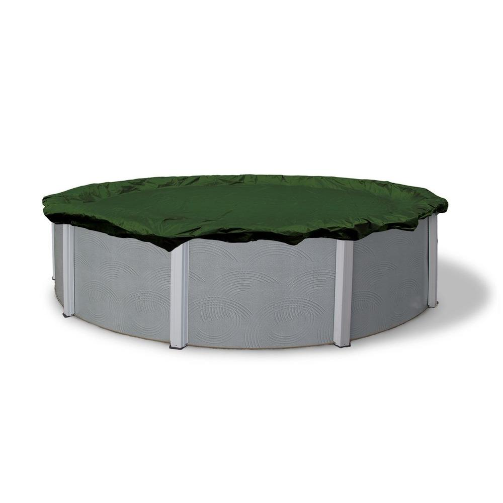 Above Ground Pool Winter Cover Blue Wave 12 Year 24 Ft Round Forest Green Above Ground Winter Pool Cover